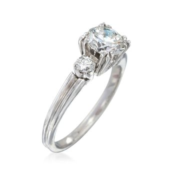 C. 2000 Vintage .90 ct. t.w. Diamond Ring in Platinum. Size 4, , default