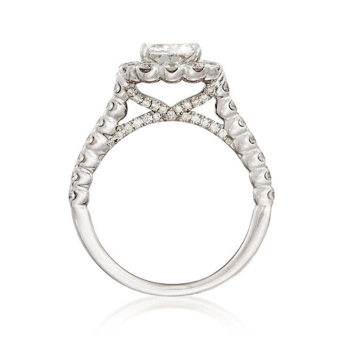 Henri Daussi 2.01 ct. t.w. Certified Diamond Engagement Ring in 18kt White Gold