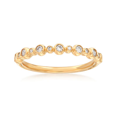 Henri Daussi .18 ct. t.w. Diamond Wedding Ring in 14kt Yellow Gold