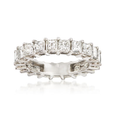 4.00 ct. t.w. Princess-Cut Diamond Eternity Band in Platinum, , default