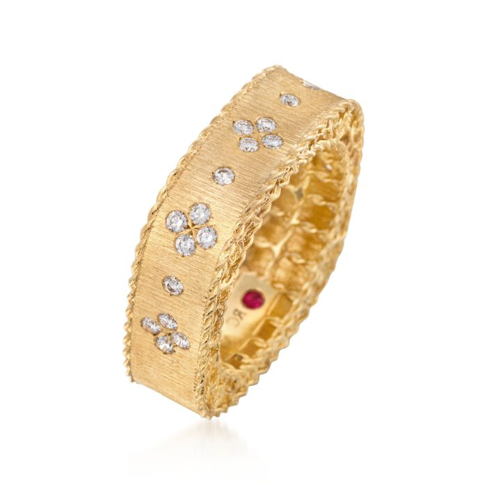 """Roberto Coin """"Princess"""" .32 ct. t.w. Diamond Square Ring in 18kt Yellow Gold"""