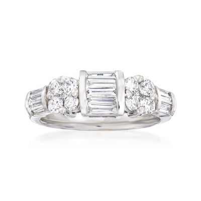 C. 2000 Vintage 1.60 ct. t.w. Diamond Ring in 14kt White Gold