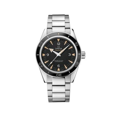 Omega Seamaster Men's 41mm Stainless Steel Watch with Black Dial