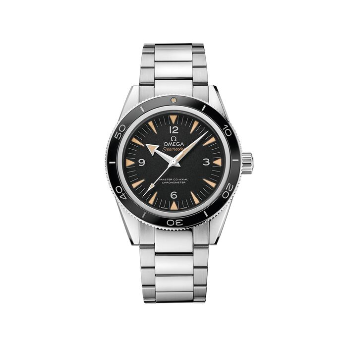 Omega Seamaster 41mm Men's Automatic Stainless Steel Watch - Black Dial, , default