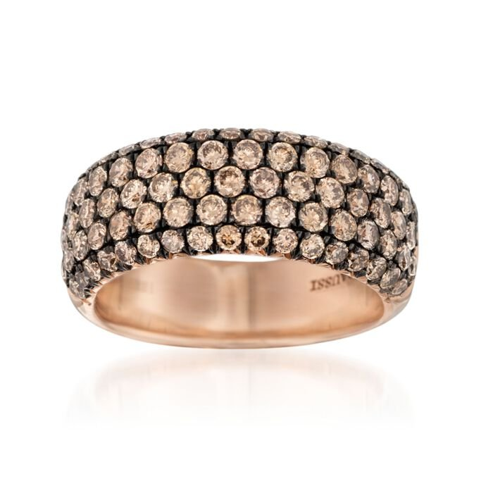 Henri Daussi 1.80 ct. t.w. Brown Diamond Wedding Ring in 18kt Rose Gold, , default