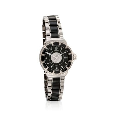 TAG Heuer Formula 1 Women's 36mm .64 ct. t.w. Diamond Watch in Stainless Steel and Black Ceramic