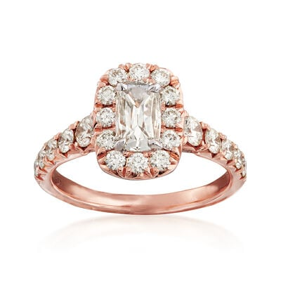 Henri Daussi 1.41 ct. t.w. Diamond Engagement Ring in 18kt Rose Gold