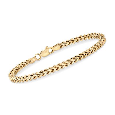 C. 1990 Vintage 14kt Yellow Gold Box-Link Bracelet, , default
