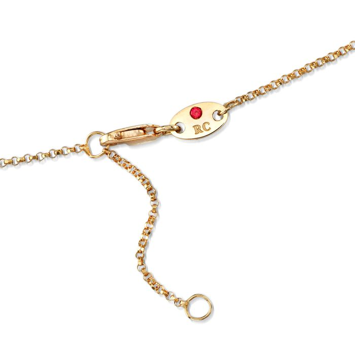 """Roberto Coin """"Princess"""" .23 ct. t.w. Diamond Cross Necklace in 18kt Yellow Gold"""