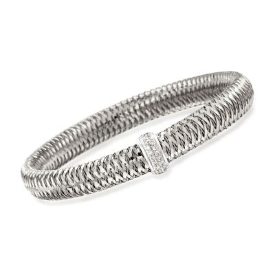 "Roberto Coin ""Primavera"" .18 ct. t.w. Diamond Bangle Bracelet in 18kt White Gold, , default"