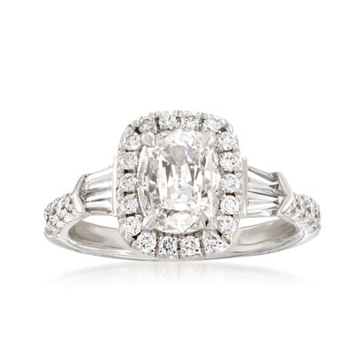 Henri Daussi 1.61 ct. t.w. Certified Diamond Engagement Ring in 18kt White Gold