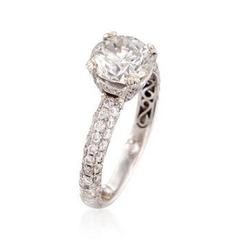 C. 1990 Vintage 2.16 ct. t.w. Diamond Ring in 18kt White Gold. Size 6, , default
