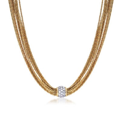 C. 1980 Vintage Tiffany Jewelry 2.50 ct. t.w. Diamond Multi-Strand Necklace in 18kt Yellow Gold, , default