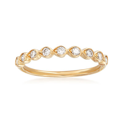 Henri Daussi .26 ct. t.w. Diamond Wedding Ring in 14kt Yellow Gold, , default