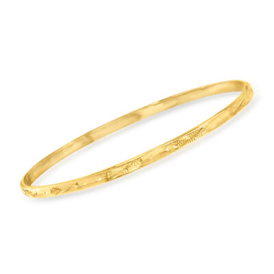 C. 1990 Vintage 20kt Yellow Gold Bangle Bracelet