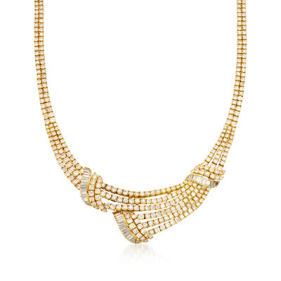 C. 1990 Vintage 25.00 ct. t.w. Diamond Necklace in 18kt Yellow Gold