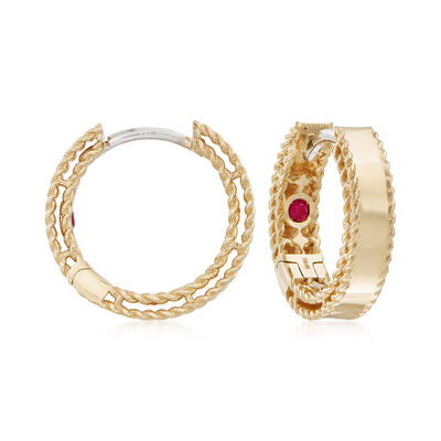"Roberto Coin ""Symphony Golden Gate  18kt Yellow Gold Hoop Earrings, , default"
