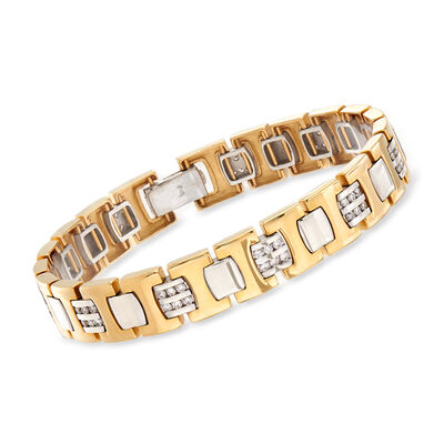 C. 1980 Vintage 1.65 ct. t.w. Diamond Link Bracelet in 14kt Yellow Gold, , default