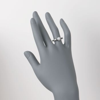 Mikimoto 6.5mm A+ Akoya Pearl Ring in 18kt White Gold