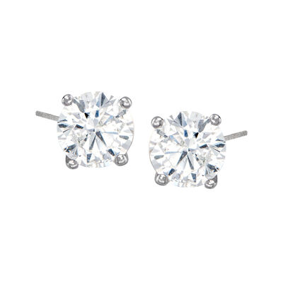 C. 1990 Vintage 1.50 ct. t.w. Diamond Stud Earrings in 14kt White Gold, , default