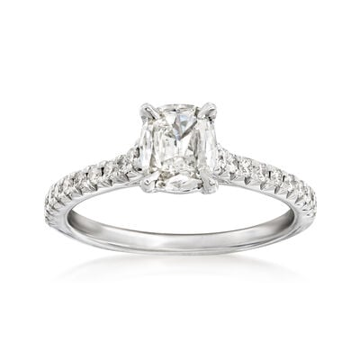 Henri Daussi .94 ct. t.w. Diamond Ring in 18kt White Gold, , default