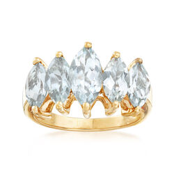 C. 1980 Vintage 2.40 ct. t.w. Aquamarine Ring in 14kt Yellow Gold, , default