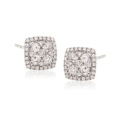 Gregg Ruth 1.20 ct. t.w. Diamond Earrings in 18kt White Gold