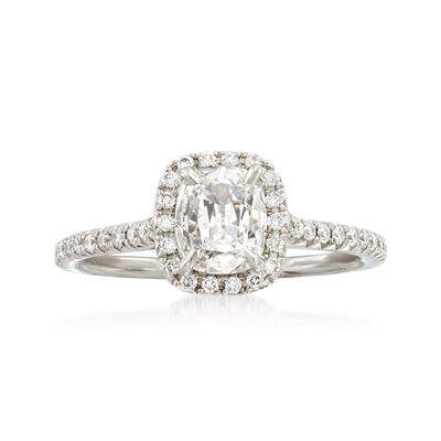 Henri Daussi .99 ct. t.w. Diamond Engagement Ring in 18kt White Gold