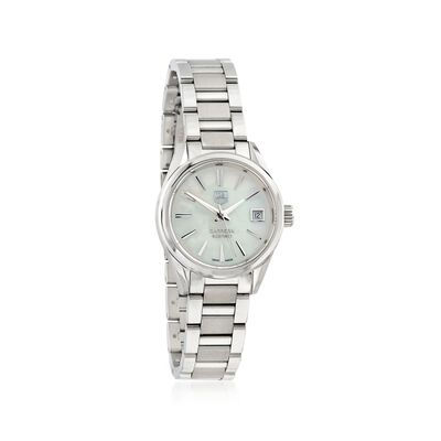 TAG Heuer Carrera Women's 22mm Stainless Steel Watch - Mother-Of-Pearl Dial