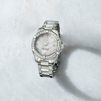 TAG Heuer Aquaracer 32mm Women's .62 Carat Total Weight Diamond Watch in Stainless Steel, , default