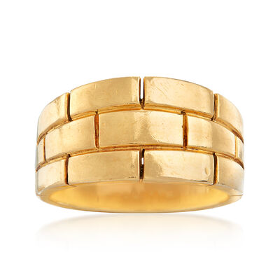 C. 1980 Vintage Cartier Maillion Panthere Ring in 18kt Yellow Gold, , default