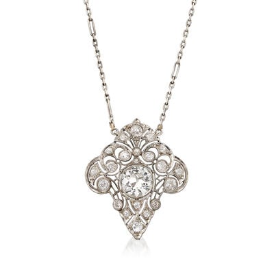 C. 1950 Vintage 3.05 ct. t.w. Diamond Necklace in Platinum