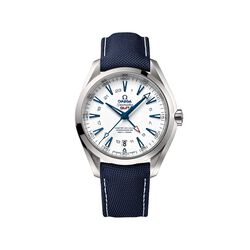 Omega Seamaster Goodplanet Men's 43mm Titanium Watch With Blue Strap, , default