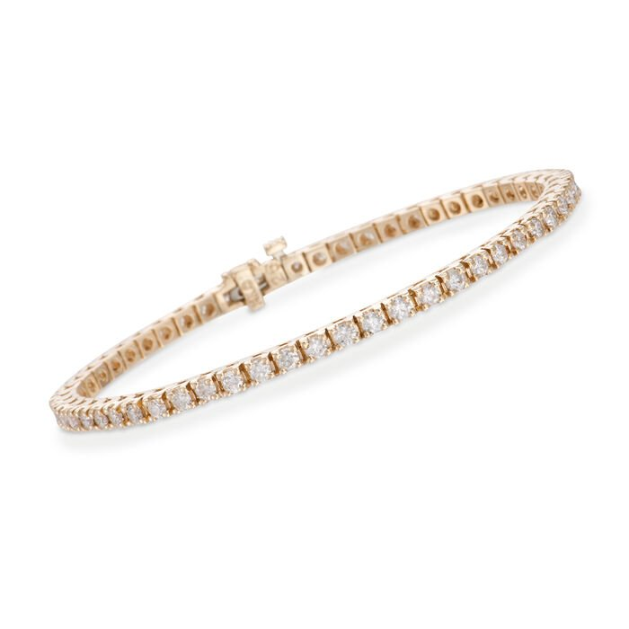 "3.00 ct. t.w. Diamond Tennis Bracelet in 14kt Yellow Gold. 7"", , default"