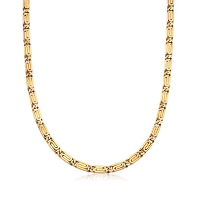 C. 1990 Vintage 14kt Yellow Gold Snail-Motif Chain Necklace, , default