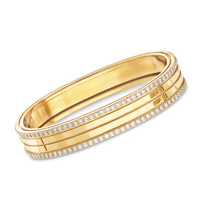 "Roberto Coin ""Portofino"" 1.95ct. t.w. Diamond Four Row Bangle Bracelet in 18kt Yellow Gold, , default"