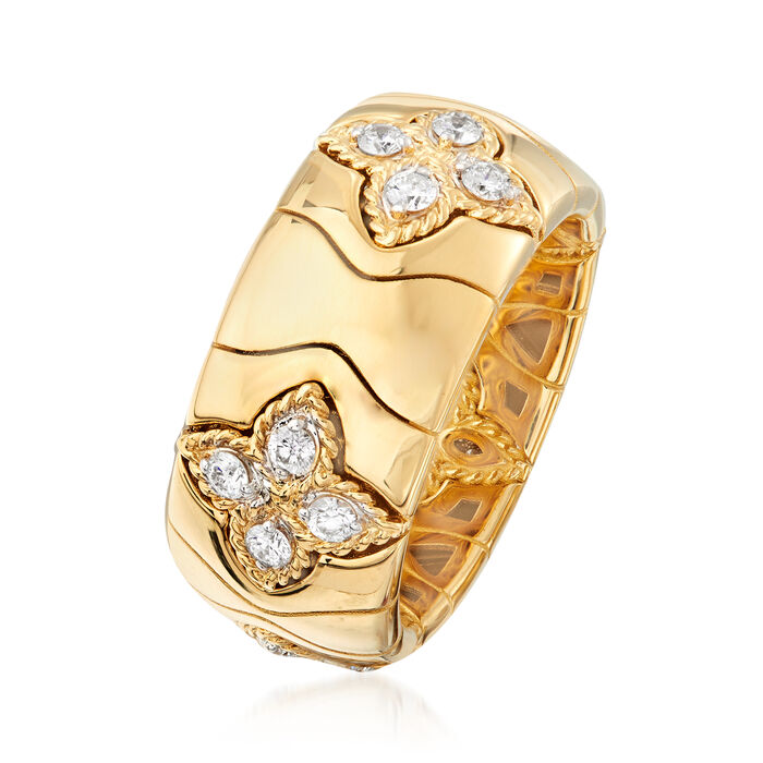 "Roberto Coin ""Princess Flower"" .52 ct. t.w. Diamond Ring in 18kt Yellow Gold"