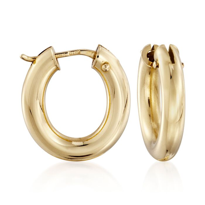Roberto Coin Small Oval Hoops in 18-Karat Yellow Gold