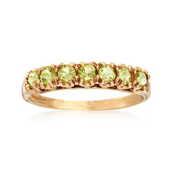 C. 1990 Vintage .70 ct. t.w. Peridot Ring in 10kt Yellow Gold, , default