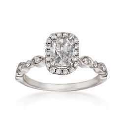 Henri Daussi 1.31 ct. t.w. Certified Diamond Engagement Ring in 18kt White Gold, , default