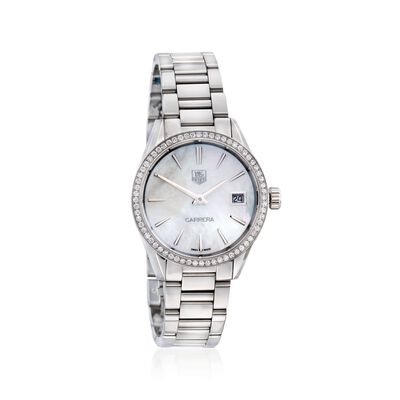TAG Heuer Carrera Women's 32mm .62 ct. t.w. Diamond Watch in Stainless Steel, , default