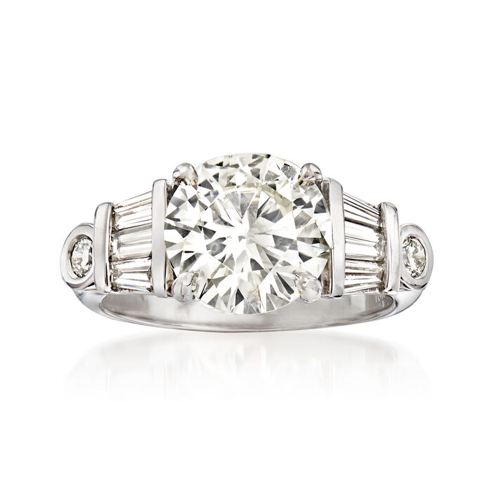 Majestic Collection 3.96 ct. t.w. Diamond Ring in 18kt White Gold
