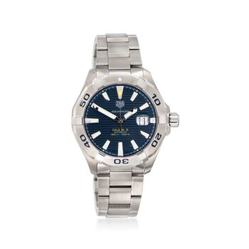 TAG Heuer Aquaracer 43mm Men's Automatic Stainless Steel Watch With Blue Dial, , default