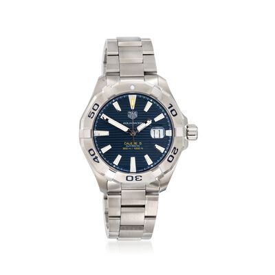 TAG Heuer Aquaracer Men's 43mm Automatic Stainless Steel Watch - Blue Dial, , default