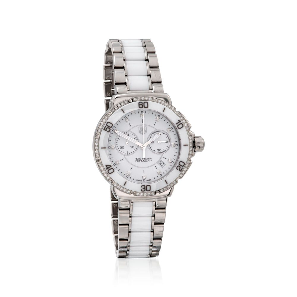 0e2845aadae4 TAG Heuer Formula 1 Women s .44 Carat Total Weight Diamond Watch in  Stainless Steel and
