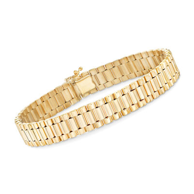 Men's 14kt Yellow Gold Link Bracelet