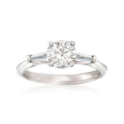 1.37 ct. t.w. Certified Diamond Engagement Ring in 14kt White Gold, , default