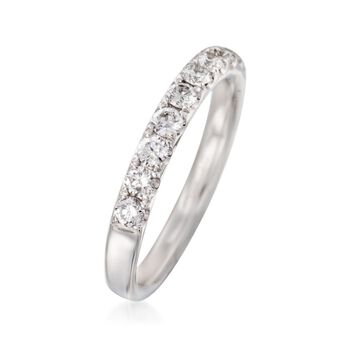 Henri Daussi .70 ct. t.w. Diamond Wedding Ring in 18kt White Gold, , default