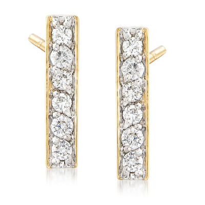 .25 ct. t.w. Diamond Bar Drop Earrings in 14kt Yellow Gold