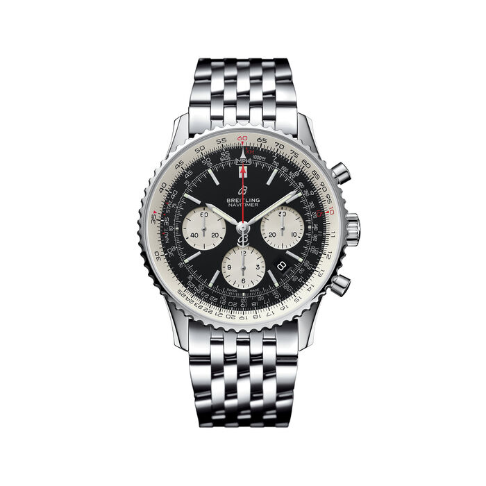 Breitling Navitimer 1 B01 Chronograph Men's 43mm Stainless Steel Watch, , default